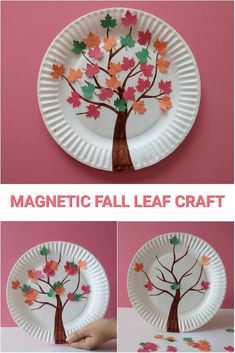 Magnetic Fall Leaf Craft Landscaping iDeas Crafts For Kids Easy Fall Crafts, Easy Arts And Crafts, Fall Crafts For Kids, Toddler Crafts, Crafts For Teens, Kids Diy, Science Crafts, Preschool Crafts, Preschool Kindergarten