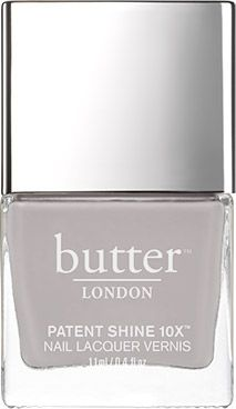 butter LONDON Ta-Ta! Patent Shine 10X Nail Lacquer | Opaque, soft grey creme.