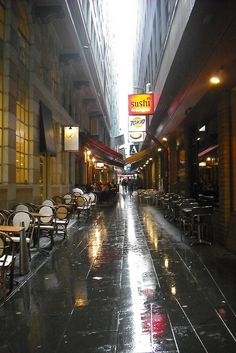 Another great laneway!  Sushi, french pastries, shopping & more!