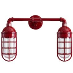 Atomic Topless Double Market Industrial Guard Sconce by BarnLightElectric.com