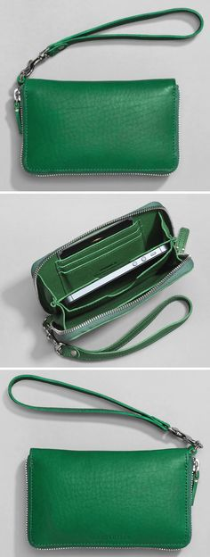 cute, green wristlet made in Missouri, USA