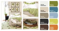 Guest Room.  Paint colors from Chip It! by Sherwin-Williams
