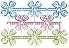 Bufanda a ganchillo-crochet con flores | tueva