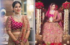 A Fushia & Gold heavily embroidered Lehenga by Jaya Rathore for Real Bride Ritika Walia of WeddingSutra. Photos Courtesy- Cupcake Productions #WeddingSutraP2W