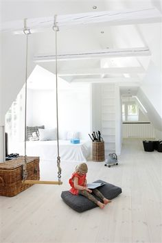 Attic with swing