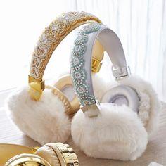 The Emily & Meritt Animal Headphones Bluetooth Beaded Fur Headphones Crown Headphones, Best In Ear Headphones, Girl With Headphones, Bluetooth Headphones, Tween Gifts, Gifts For Teens, Kids Gifts, Mode Kawaii, Emily And Meritt