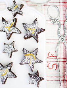 Chocolate and orange stars