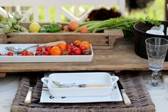 Riviera Maison table setting in our garden