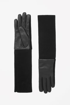 COS   Leather and wool gloves