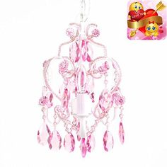 #baby The #Three Bu pound Chandelier is a beautiful mini chandelier for your little girl's room. Chandelier has glass and acrylic beads and dangles. It uses thre...