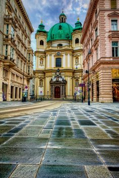 St. Peter's Church - Vienna, Austria. I'll never forget turning down a street and seeing this church nestled amongst the city's buildings. An unexpected beauty that's stayed with me.
