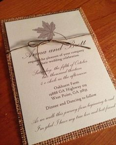 Hey, I found this really awesome Etsy listing at https://www.etsy.com/listing/192932591/burlap-twine-fall-wedding-invitation