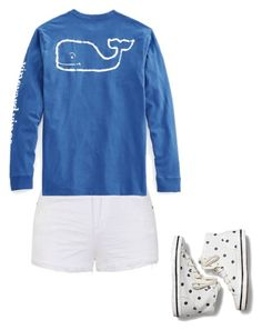 """""""Beach wear"""" by vallie-evans on Polyvore featuring Ally Fashion, Vineyard Vines and Keds"""