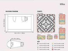 Knitting Needles, Free Knitting, Knitting Designs, Knitting Patterns, Knitting Ideas, Rowan Felted Tweed, Body Chart, Diagram Chart, Lace Patterns