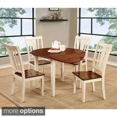 b87606e0183c August Grove Spruill 5 Piece Drop Leaf Dining Set | Products | Kitchen  dining sets, Dining room sets, Small kitchen tables