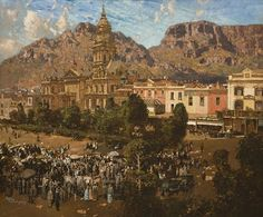 City Hall, Cape Town 1917 by Robert Gwelo Goodman Homeland, Cape Town, Art Google, South Africa, Paris Skyline, Grand Canyon, Tours, Culture, Stock Photos