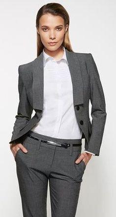Ladies Grey Cropped Jacket(60315)…