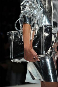 metallic on metallic  silver on silver  BLUMARINE F/W 2012
