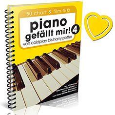 Piano gefällt mir! Band 4 - 50 Chart und Film Hits - von Coldplay bis Harry Potter - das ultimative Spielbuch für Klavier von Hans-Günter Heumann ( Variante Spiralbindung mit bunter herzförmiger Notenklammer )