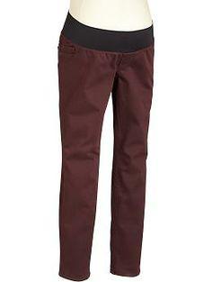 Maternity Pop-Color Demi-Panel Skinny Jeans | Old Navy