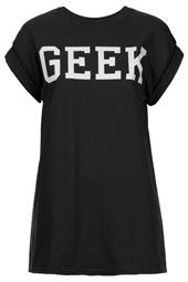 I want this shirt! Being proud of being a geek ^.^ // Jersey Tops - Clothing - Topshop USA