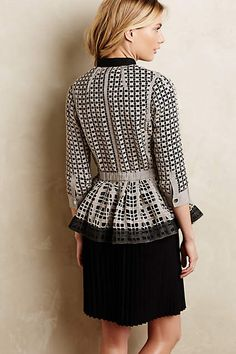 Laced Peplum Jacket - anthropologie.com