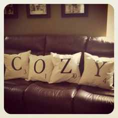 Scrabble Pillows How-To! By Andrea and Kristi
