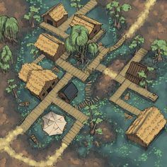 Dungeon Mapster is creating maps for pathfinder, tabletop games, and dungeons and dragons - Otakustuff - Fantasy City Map, Fantasy Village, Fantasy Town, Fantasy World, Dungeons And Dragons Homebrew, D&d Dungeons And Dragons, Images Pirates, Animal Crossing Qr Codes, Dnd World Map