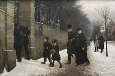 En begravelse (Frants Henningsen) - Frants Henningsen - Wikipedia, den frie encyklopædi