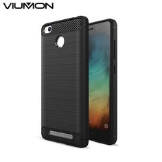 Cover for Xiaomi Redmi 3s Case Carbon Fibre Brushed Business Korean Style TPU Smart Phone Cases for xiomi Redmi 3 s Phone Bag