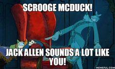 Credit: Pound Foolish | Adventures in Odyssey memes | Jack Allen | Scrooge McDuck | Alen Young