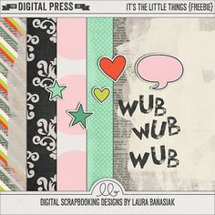 Quality DigiScrap Freebies: It's the Little Things mini kit freebie from Laura Banasiak
