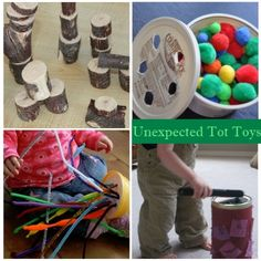 Recycled items toddler toys