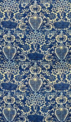 Beautiful pattern in blue and white Surface Design, Surface Pattern, Pattern Art, Pattern Design, Motifs Textiles, Textile Prints, Textile Patterns, Textile Design, Pretty Patterns