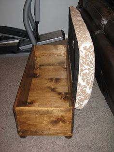 diy ottomans | build and upholster a storage ottoman, TDA Decorating and Design