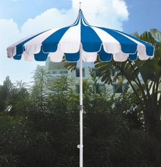 Dayva Pagoda 8.5' Round Aluminum Crank Umbrella available in an assortment of color combos