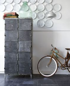 "Cool go to the blog on there you will find in left hand column ""try this at home"" there are in fact SEVERAL DYI Pinterest ideas such as the charcoal abstract mobile and the IKEA widow treatment...great blog not to mention for ideas and information ....a do not miss."
