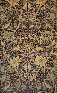 ¤ William Morris, Bullerswood carpet (detail), 1889.