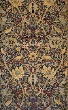 William Morris, Bullerswood carpet (detail), 1889.