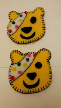 Pudsey bear felt broach children in need Crafts For Boys, Toddler Crafts, Bear Fancy Dress, Bear Felt, Bear Costume, Bear Crafts, Beavers, Fundraising Ideas, Breakfast Club