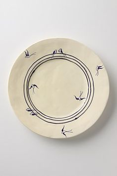 Birds on a wire dinner plate, £18, Anthropologie
