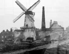 The windmill, apparently near the top of Holt Hill, year unknown