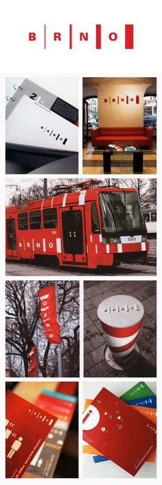 Identity for Brno, Czech Republic, by Vera Maresova #city_brand 2004