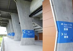 Stadium Wayfinding : Sports Park Hawkes Bay | DallowBoss Design #wayfinding #nz #signage