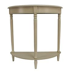 Simplicity Half Moon Console Table in Antique white Finish Review