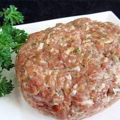 Homemade Sweet Italian Sausage (Mild or Hot) - about hot pepper flakes perfect heat for Pete Homemade Italian Sausage, Homemade Sausage Recipes, Italian Sausage Recipes, Sweet Italian Sausage, Pork Recipes, Cooking Recipes, Healthy Recipes, Italian Sausage Seasoning, Recipies