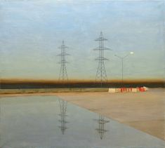 Suburb by Pavel Otdelnov. 2013 oil on canvas 180x200. Private collection
