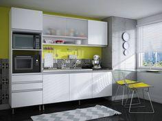 Armário de Cozinha Aéreo Completa Móveis 3 Portas 100%MDF - Armário de Cozinha - Magazine Luiza