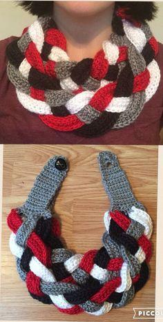 Easy To Wear Free Crochet pattern Knitting TechniquesKnitting For KidsCrochet ProjectsCrochet Ideas Diy Crochet Scarf, Crochet Scarves, Free Crochet, Knit Crochet, Knitted Washcloth Patterns, Easy Crochet Patterns, Knitting Patterns, Crochet Christmas Gifts, Crochet Gifts