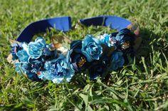 Un favorito personal de mi tienda Etsy https://www.etsy.com/es/listing/387219182/cinturon-azul-elastico-con-flores-de